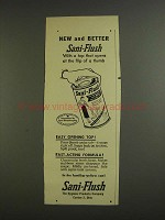 1955 Sani-Flush Cleaner Ad - New and Better