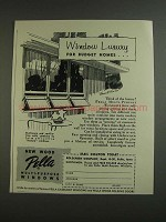 1955 Pella Multi-Purpose Windows Ad - Budget Homes