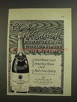 1955 Charles Heidsieck Champagne Ad - World's Finest