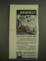 1955 Gravely Tractor and Rotary Plow Attachment Ad