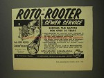 1955 Roto-Rooter Sewer Service Ad