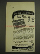 1955 The Swiss Colony Party Pack Cheese Ad
