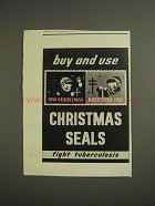 1955 Christmas Seals Ad - Buy and Use