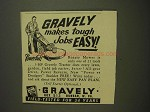 1955 Gravely Rotary Mower Ad - Makes Tough Jobs Easy