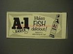 1955 A.1. Sauce Ad - Makes Fish Delicious