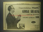 1956 George Shearing and the Quintet Ad - Variety 50th