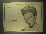 1956 Eve Arden Ad - Variety 50th Anniversary