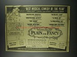 1956 Plain and Fancy Musical Ad - Best of the Year