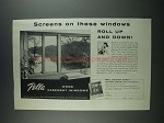 1956 Pella Wood Casement Windows Ad - Screens on These