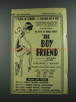 1956 The Boy Friend Comedy Play Ad - 3 Years in London