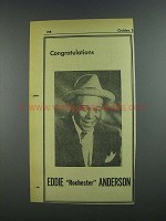 1956 Eddie Rochester Anderson Ad - Variety 50th