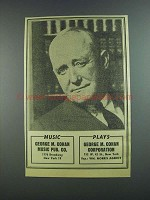 1956 George M. Cohan Ad - Music Plays