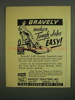 1958 Gravely Tractor Ad - Makes Tough Jobs Easy