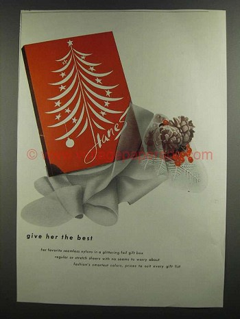 1959 Hanes Stockings Ad - Give Her the Best