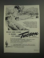 1962 Tucson Arizona Ad - Relax Like a King