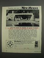 1962 New Mexico Tourism Ad - Vacation Just Once