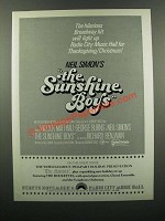 1976 The Sunshine Boys Movie Ad - Hilarious Hit