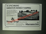 1976 Sheraton Inn Ad - In Lynchburg Makes it Happen