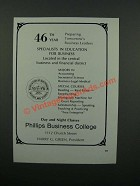 1976 Phillips Business College Ad - 46th Year