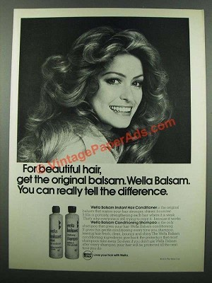1975 wella balsam shampoo and conditioner ad
