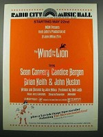 1975 The Wind and the Lion Movie Ad - Radio City