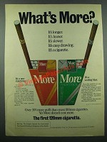 1975 More Cigarettes Ad - What's More?