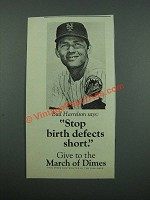 1975 March of Dimes Ad - Bud Harrelson