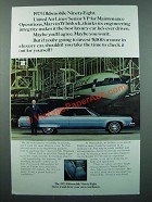 1973 Oldsmobile Ninety-Eight Ad - United Air Lines