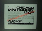 1972 Chicago Convention and Tourism Bureau Ad