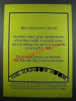 1971 The Rainbow Room Ad - Welcome Home, Liberty