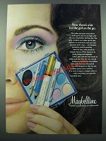 1971 Maybelline All Eyes Kit Ad - For Girl on the Go