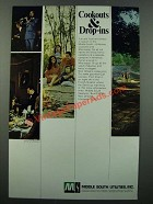 1971 Middle South Utilities Ad - Cookouts & Drop-Ins
