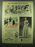 1949 Singer Sewing Centers Ad - Taxi Trip to Bermuda