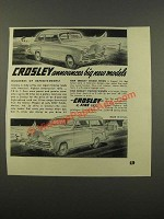 1949 Crosley Deluxe Sedan and Station Wagon Ad