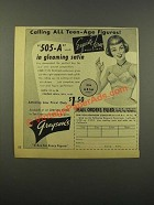 1949 Exquisite Form 505-A Bra Ad - Teen-Age Figures
