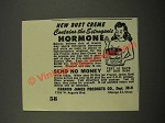 1949 Francis James Products Bust Crme Ad - Hormone