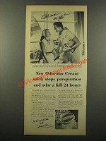 1947 Odorono Cream Ad - Safely Stops Perspiration