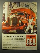 1947 Reo Trucks Ad - A Good Truck to Own or Drive