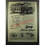 1947 Jeep Station Wagon Ad - Wider Usefulness