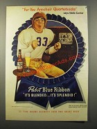 1947 Pabst Blue Ribbon Beer Ad - Eddie Cantor