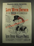 1947 Life With Father Movie Ad - Irene Dunne, W. Powell