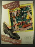1947 Naturalizer Shoes Ad - Shoe With the Beautiful Fit