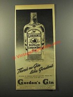 1947 Gordon's Gin Ad - There's No Gin Like Gordon's