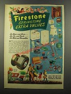 1947 Firestone Products Ad - Springtime Extra Values