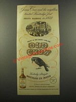 1947 Old Crow Bourbon Ad - First Iron Horse