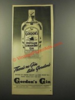 1947 Gordon's Gin Ad - No Gin Like Gordon's
