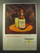 1947 Seagram's Seven Crown Whiskey Ad - Symphony
