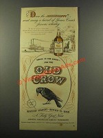 1947 Old Crow Bourbon Ad - Down the Mississippi