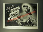 1947 Leaf Spearmint and Leafmint Gum Ad - Sweet