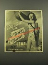 1947 Leaf Spearmint and Leafmint Gum Ad - Stay Sweet